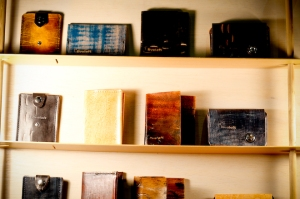Leather-bound notebooks by Fiveleft Leather